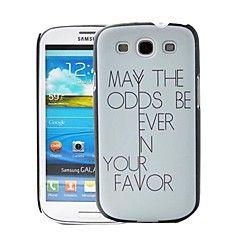 Κάλυμμα πίσω μέρους - Γραφικό - Samsung Mobile Phone - για Samsung S3 I9300 ( Μαύρο , Πλαστικό )