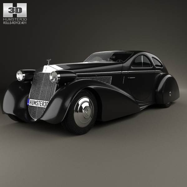 Rolls-Royce Phantom Jonckheere Coupe 1934 3d model from humster3d.com. Price: $75