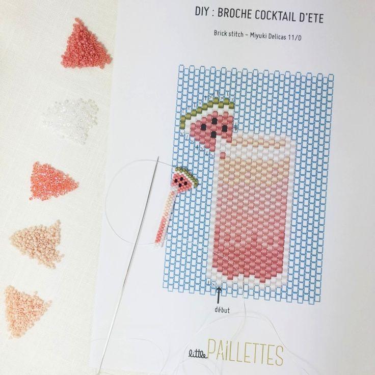 DIY broche cocktail été - 1ere partie - littlePaillettes