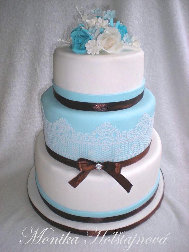 svatební v modrém