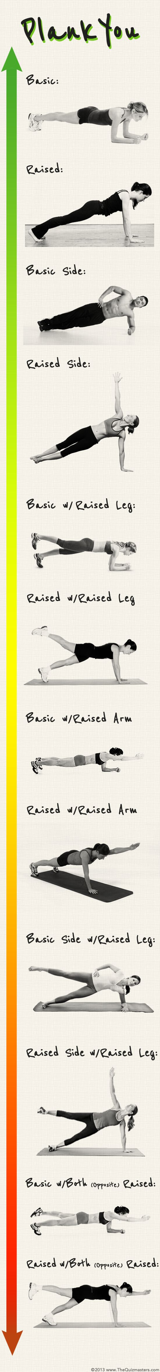 Get a sexier hour glass body with these 12 plank exercises that will tighten, tone, and taper your core. Re-pin now, check later.