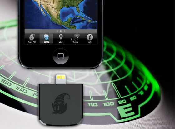 bad elf gps lightning dongle gps pour ipad et ipod touch. Black Bedroom Furniture Sets. Home Design Ideas