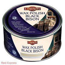 Liberon Black Bison Paste Wax Furniture Polish - 500ml - ALL COLOURS AVAILABLE