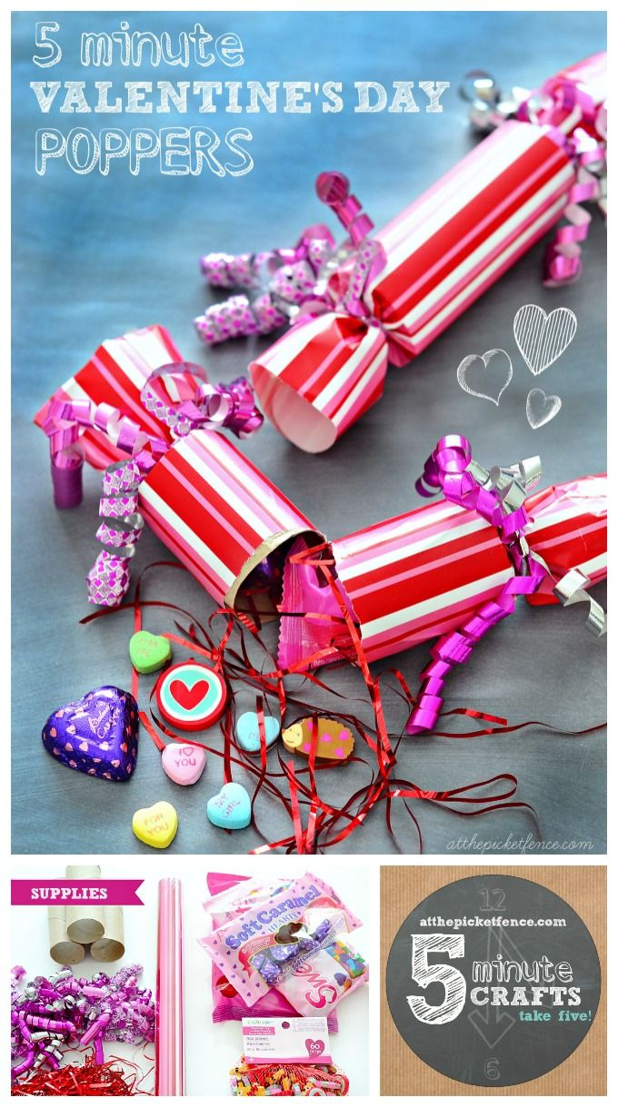 A perfect Valentine for a tween or teen to hand out or for a Valentine's Day party!   Create these diy poppers for Valentine's Day in less than five minutes!