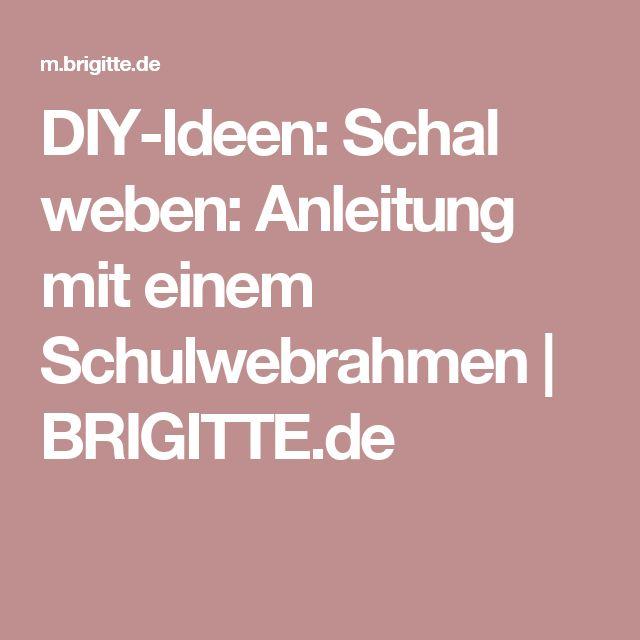 DIY-Ideen: Schal weben: Anleitung mit einem Schulwebrahmen | BRIGITTE.de