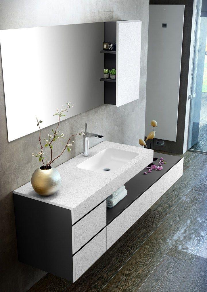Making. Top e mobile bagno si fondono in un solo elemento