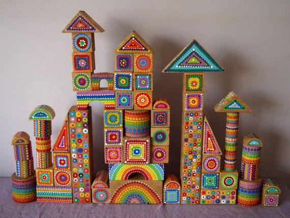 Beautiful Building Blocks - I think I love these even more than the blocks in blackboard paint.