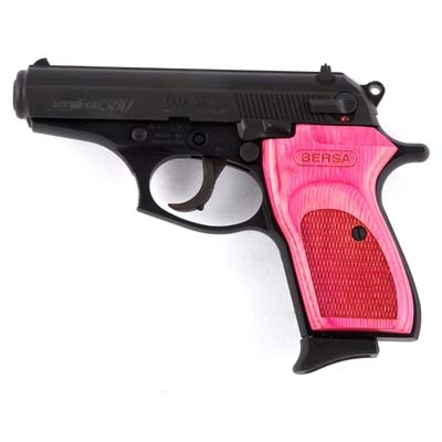 Bersa 380 (the little girl in me secretly loves the pink grip)