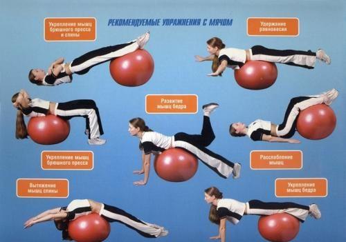 Упражнения на фитболе в картинках: Многие выполняют комплекс упражнений с фитболом. Фитбол для женщин и мужчин,упражнения на фитболе для беременных. http://www.fortunaa.okis.ru/fitbol.html