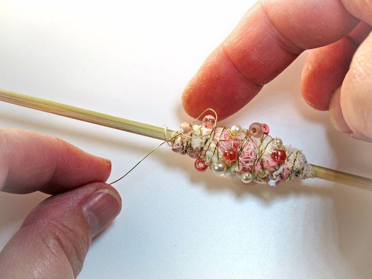 BluKatKraft: Wire Wrapped Fabric Beads - DIY Jewelry Tutorial