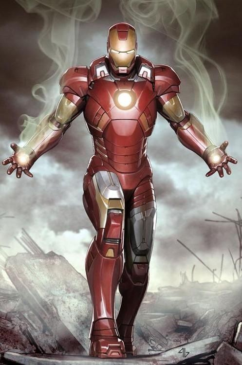 Tony's Favorite Suit Art by: Adi Granov Tony's suit of choice! I wish I had one of these!