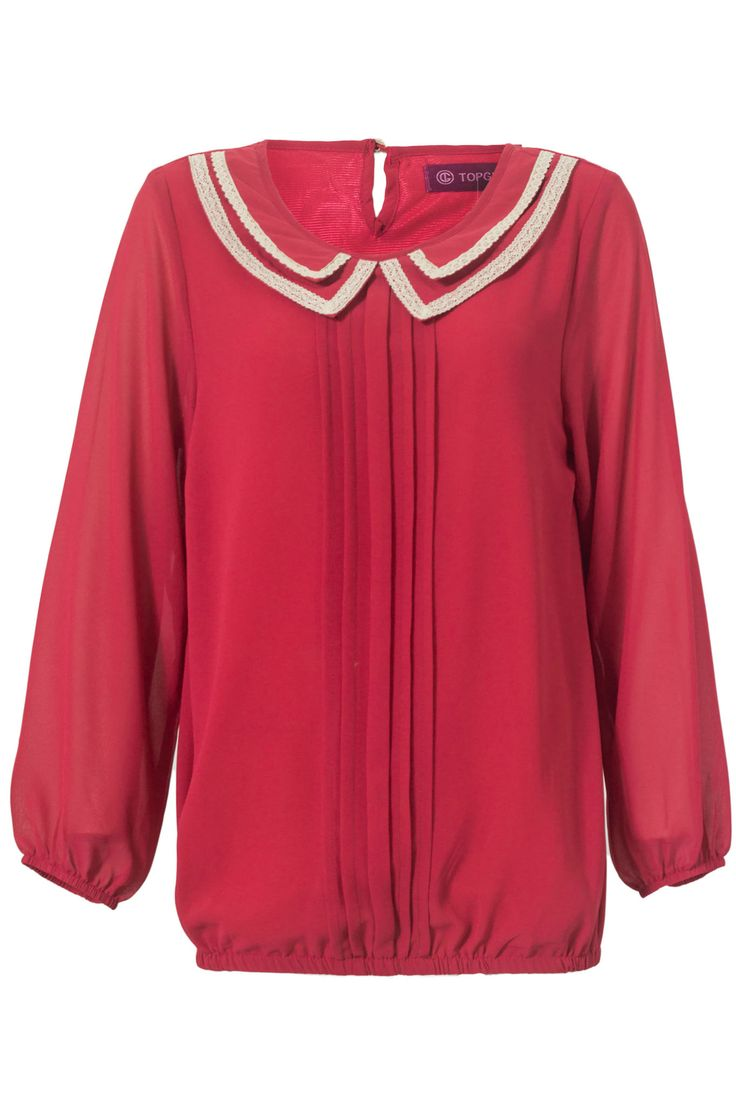 Laced Collar Blouse | TOPGIRL Malaysia - Plus sizes - Muslimah Fashion