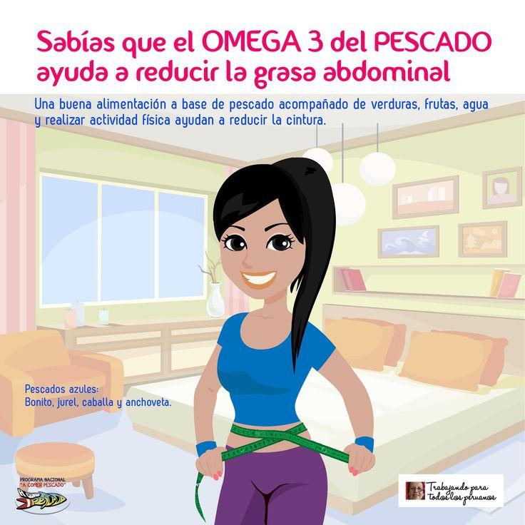 Sabías que el Omega 3 del pescado ayuda a reducir la grasa abdominal