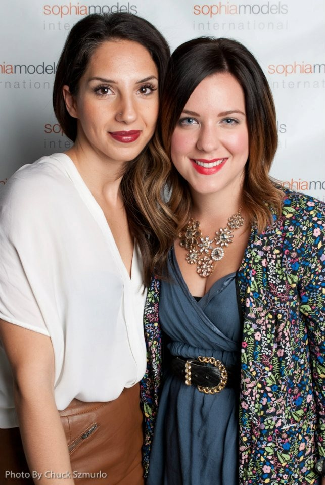 Skoop ladies! Account Specialist, Joanie Nahas (left), and Communications and Researcher, Alyssa Quirico (right). At PARKLUXE 2012.