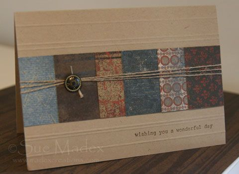Masculine card with well worn DSP