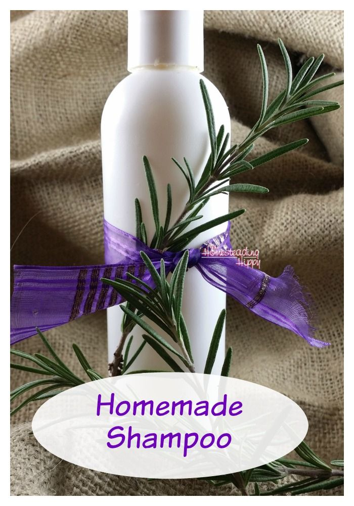 Homemade shampoo is easier to make than you might think.  Just a couple simple ingredients and you are on your way to beautiful hair naturally! ~The HomesteadingHippy #homesteadhippy #fromthefarm #lesstrash