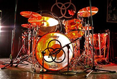 "John Bonham's legendary ""The Song Remain's The Same"" drum set."