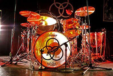 """John Bonham's legendary """"The Song Remain's The Same"""" drum set."""