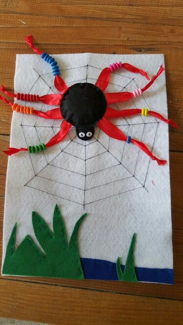Spider counting bead page for Quiet Book.