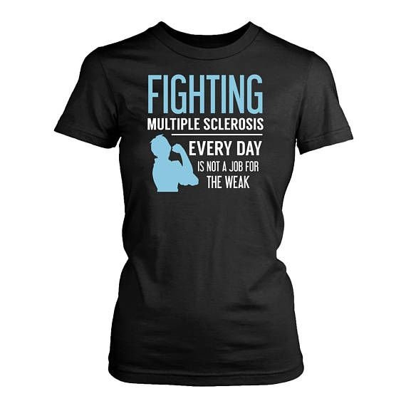 334130497f0de Multiple Sclerosis womens fit T-Shirt. Funny Multiple Sclerosis shirt. in  2019