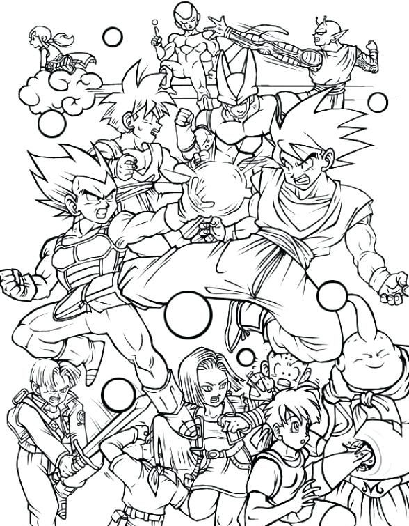Dragon Ball Super Coloring Pages Full Team Educative Printable Super Coloring Pages Dragon Coloring Page Dragon Ball Art