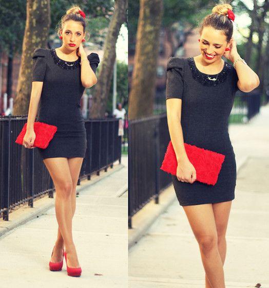 Black mini dress & Red heels...YES PLEASE! | Fashion - Night Owl ...
