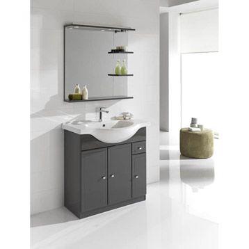 Meuble de salle de bains galice gris leroy merlin 159 - Luminaire salle de bain leroy merlin ...