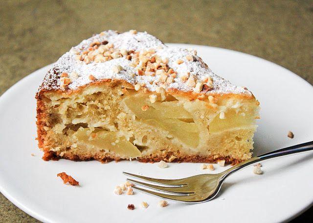 Rezept für französischen Apfelkuchen mit Crème fraîche-Guss und Mandeln @moey