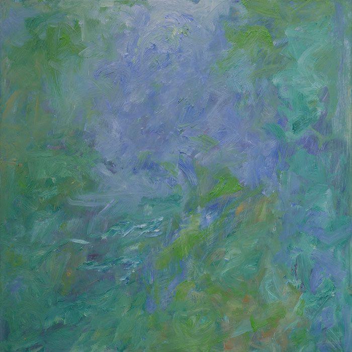 Rautio: Pfefferfliess, Stangenhagen, 80x80 cm, September 2016, oil on canvas, exhibited in Galerie Classico, Berlin 19.4.-27.5.2017