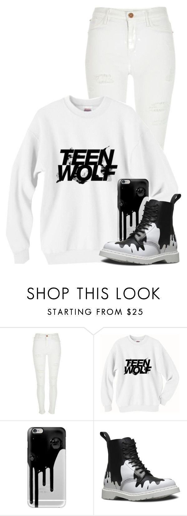 """Teen Wolf Season 5"" by jen-the-glader ❤ liked on Polyvore featuring River Island, Casetify and Dr. Martens"
