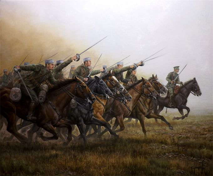 José ferré Clauzel, carga del Regimiento Alcantara.