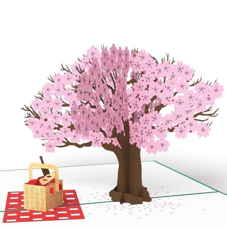 Springtime Picnic pop up card - thumbnail
