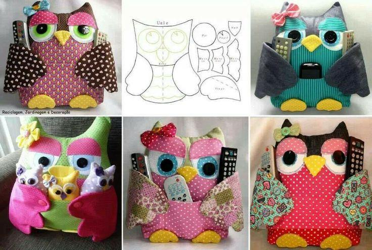Owl remote holder pattern