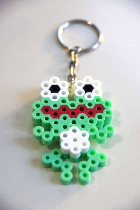 "key chain "" frog "" (Choose one color). $2.50, via Etsy."