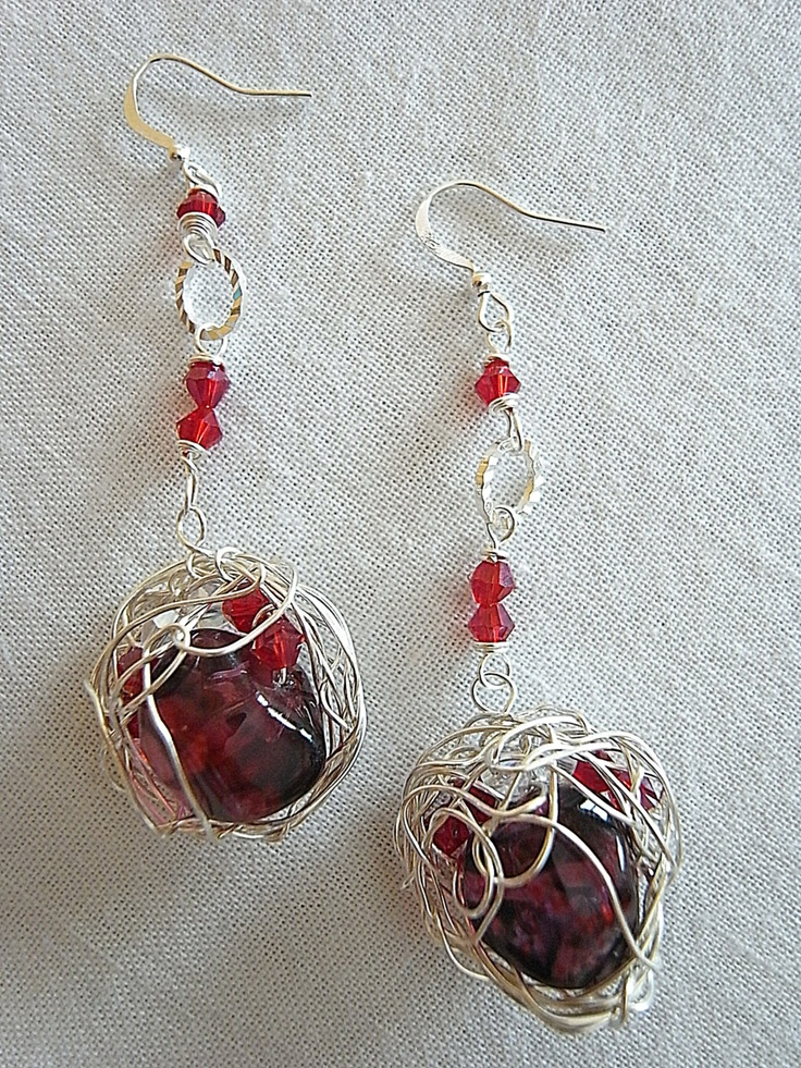 earring gemstone with crystal
