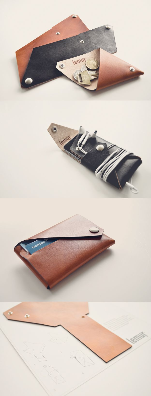 how to make a magic wallet out of leather