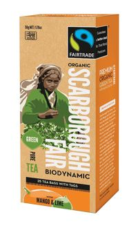 Scarborough Fair - Green Tea with Mango & Lime. Check this and heaps more #Fairtrade products out here: http://fairtrade.org.nz/en-nz/buying-fairtrade-products #tea