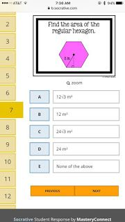 Ideas and Resources for the Secondary Math Classroom: Area of Regular Polygons