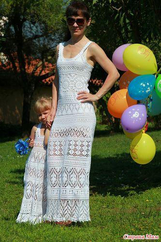 Beautiful crocheted wedding dress and flower girl dress! Трое в белом ажуре. Обсуждение на LiveInternet - Российский Сервис Онлайн-Дневников