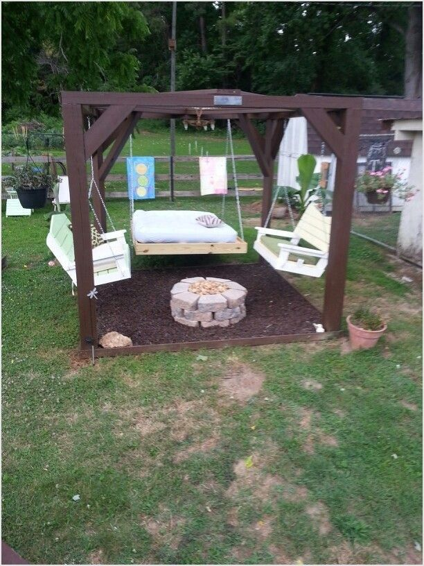 41 Amazing Ideas Backyard Fire Pit With Swings 19 1000 About On Pinterest 5 Outdoor