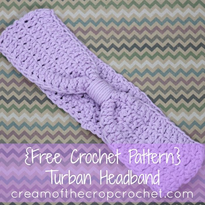 Cream of the Crop Crochet~Turban Headband {free #crochet pattern} #handmade