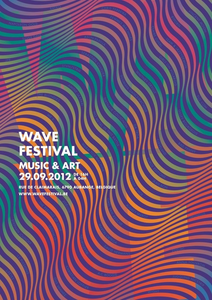 Wave Festival 2012 - The design of this poster fits what it is advertising well. I love the use of line to make it looks like waves.