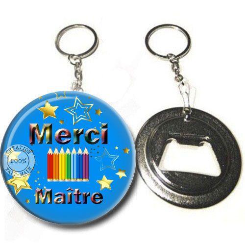 Porte clé décapsuleur / Merci Maître /cadeau,anniversaire,noël : Porte clés par bijoux-martika-creation