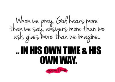 He is Always in Control: Quote