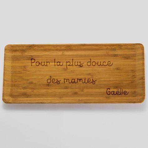 Plateau personnalisé bois gravé 35x16 cm texte    https://www.happybulle.com/accessoire-personnalise/plateau-personnalise-bois-grave-35x16-cm-1047.html