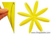 Step 9b Folding Eight-Petal Paper Flower Craft