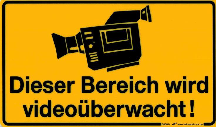 Hinweis-Schild - PST-Schild Dieser Bereich wird videoüberwacht!, vielseitig einsetzbar, wasserfest und wetterbeständig