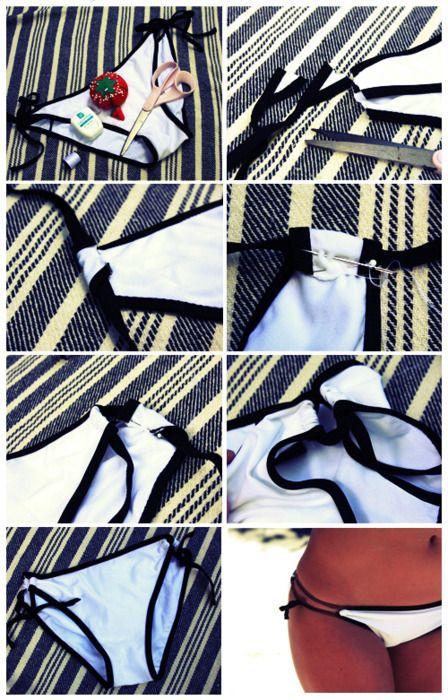 Convert a regular side tie bikini into a double side tie!