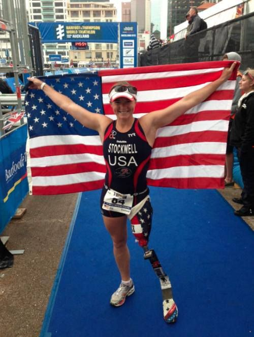 Retired Army Lt Melissa Stockwell... and here she is again.  Thx Melissa for your service and sacrifice.  GOD bless you