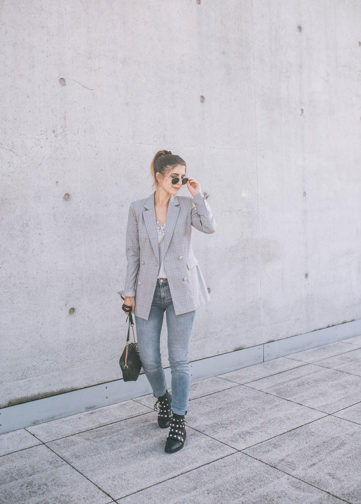 Back to Uni Outfit + Tipps für den perfekten Semesterstart  #ootd #fashionblog #fashion #style #streetstyle #outfit #blazer #karoblazer #check #karo #university #businesslook
